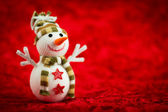 Wool Snowman — Stock Photo