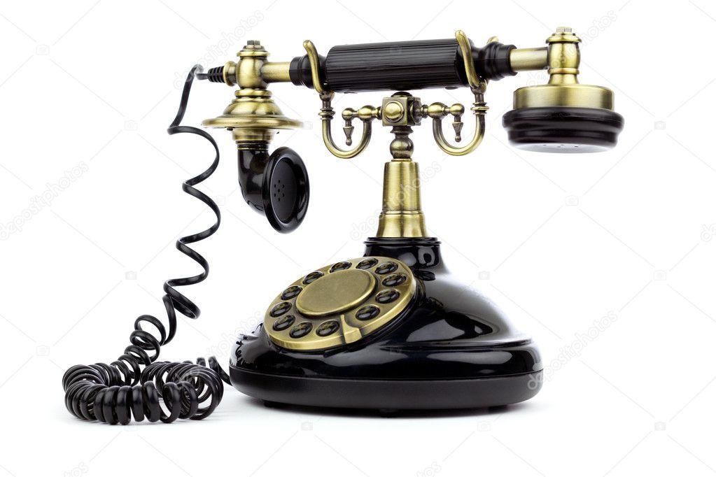 ancien t l phone vintage noir photographie bigknell 7704677. Black Bedroom Furniture Sets. Home Design Ideas