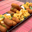 Stock Photo: Croquettes and fries