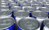 Energy drinks cans — Stock Photo