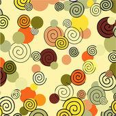 Spirals in the autumn background — Stock Vector