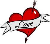Tattoo Coração — Stock Vector