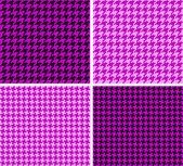 Texturas Pied-de-Poule — Stock Vector