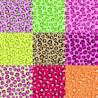 Royalty-Free Stock Векторное изображение: Collection Leopard Skin Textures