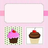The Cupcake Delicious — Stock Vector