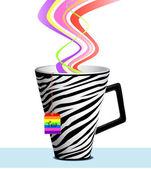 Mug Tea Gay — Stock Vector
