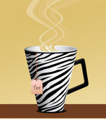 Mug Tea — Stock Vector