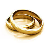 Goldring Goldringe Ringe rings Eheringe — Stock Photo