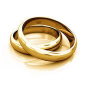 Goldring Goldringe Ringe rings Eheringe — Stock Photo