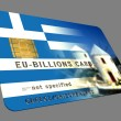 Greece EURO Credit Card - Stock Photo