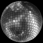 Diskokugel Discokugel mirror ball — Foto Stock