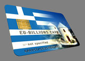 Greece EURO Credit Card — Stock Photo