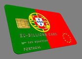 Portugal EURO Credit Card — Stock Photo