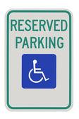 Handicap parking sign — Stock Photo