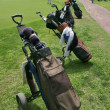 Royalty-Free Stock Photo: Several golf bags