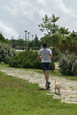 Footing-jogging — Stock Photo