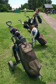 Several golf bags — Stock Photo