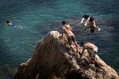 Ibiza - Jumping — Stock Photo
