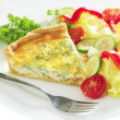 Royalty-Free Stock Photo: Cheese quiche horizontal with salad