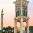 Clock tower and Grand Mosque — Stock Photo