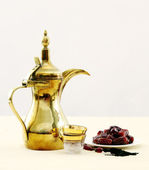 Arabian coffee and dates — Stock Photo