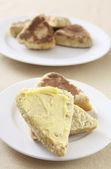 Buttered griddle scone — Stock Photo