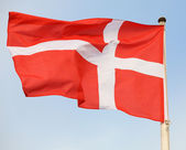 Danish national flag — Stock Photo
