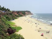 Varkala beach and cliff — Stock Photo
