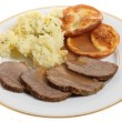 Stock Photo: Roast beef plate