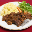 Stock Photo: Beef Bourguignon dinner