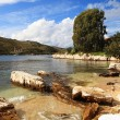Kassiopi beach Corfu - Stock Photo