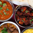 Indian curries from above — Stock Photo