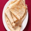 Chapattis from above - Stock Photo