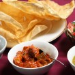 Chutney, papadums and salad — Stock Photo #7030709