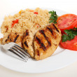 Cajun chicken and rice — Stock Photo