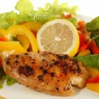 Lemon pepper Chicken breast - Stock Photo