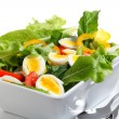 Egg and tomato salad — Stock Photo