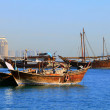 Dhows in Doha Bay — Stock Photo