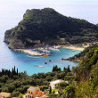 Paleokastritsa harbour — Stock Photo