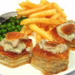 Turkey vol-au-vents - Stock Photo