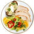 Healthy turkey salad — Stock Photo #7037670