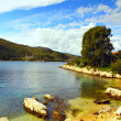 Sheltered cove, Kassiopi, Corfu — Foto Stock
