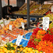 Stock Photo: Rialto market vegetable stall