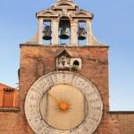 Historic clock at the Rialto — Stock Photo