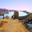Stock Photo: Hania harbour and town