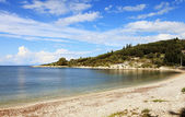 Kassiopi main beach — Stock Photo