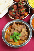 Indian curries high angle view — Stock Photo
