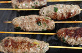 Lamb Kofta on a grill plate — Stock Photo