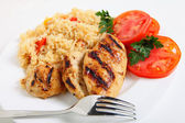 Cajun rice and chicken horizontal — Stock Photo