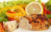 Fried lemon pepper chicken — Stock Photo